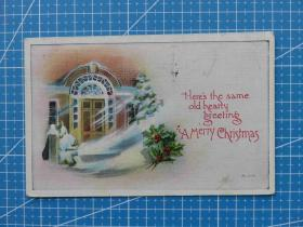 欧洲美邮---百年美国欧洲贴邮票实寄明信片-收藏集邮-复古手账-外国邮政彩色明信片