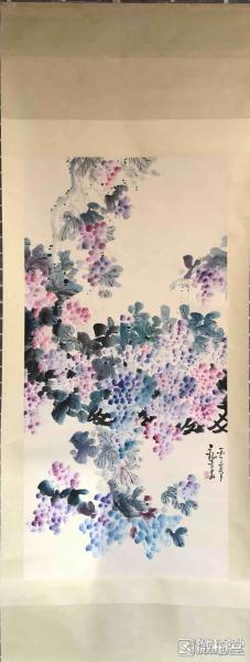 马龙青         纯手绘            国画         (卖家包邮)工艺品