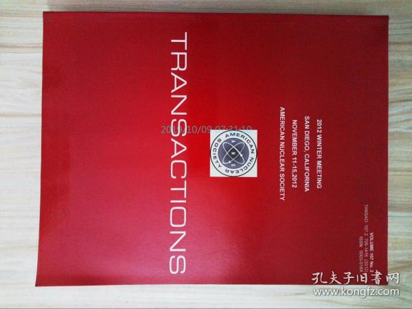 Transactions of the American Nuclear Society 11/2012学术论文