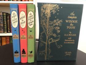 《The Complete Winnie-the-Pooh》 (3册装)Folio Society 布面精装本