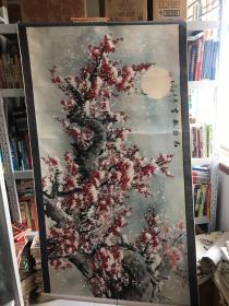 国画红梅傲雪(赵启东)