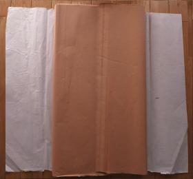 中国安徽泾县老宣纸·四尺70*137cm彩宣砖红色68张 书画 N1072