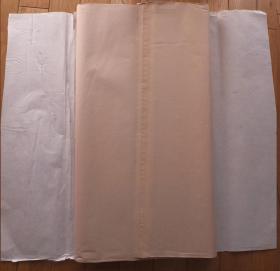 中国安徽泾县老宣纸·四尺70*137cm彩宣浅粉色70张 书画 N1071