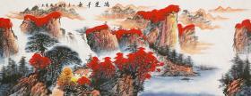 【来自作者本人,保证真迹】广西美协会员蒋镇隆手绘 鸿运千秋169