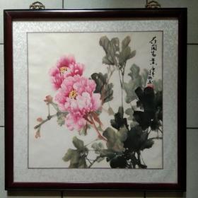 著名画家 王少卿  先生 精美花鸟画《花开富贵◆牡丹》·