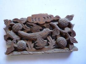 民国 门窗橱窗雕刻板(鸟)