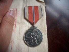 抗美援朝-志愿军在朝鲜荣获的银质《军功章》!