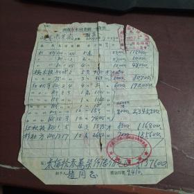 济南市木材业统一发货票 1952年 印有抗美援朝 保家卫国