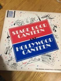 原版外文黑胶唱片  STAGE DOOR CANTEEN AND HOLLYWOOD CANTEEN  2张合眚  运费一律请选快递