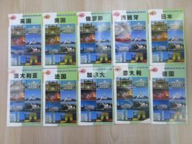 放眼看世界丛书:加拿大、法国、澳大利亚、意大利、德国、美国、英国、俄罗斯、日本、西班牙     10本合售