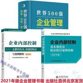 全3册2021年版世界500强企业管理制度流程表格文书全集+企业内部控制主要风险点、关键控制点与案例解析+企业内部控制基本规范及配套指引案例讲解 中华工商联合出版社、立信会计出版社正版现货