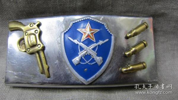 手工雕刻精美铜枪弹图案不锈钢腰带扣带卡子