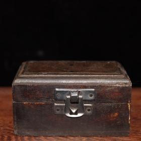 木实盒三节望远镜一套