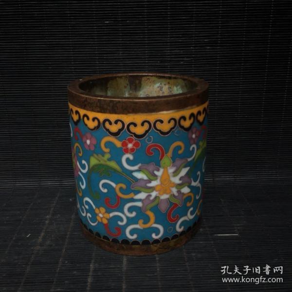 铜景泰蓝工艺笔筒