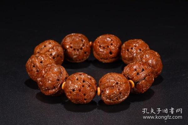 旧藏:核雕手串