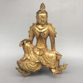 黄铜佛像摆件
