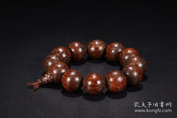 旧藏:竹根素面手串