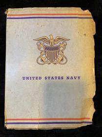 【铁牍精舍】【文房雅玩】民国美国海军信封原装一册,31张,29x21.5cm