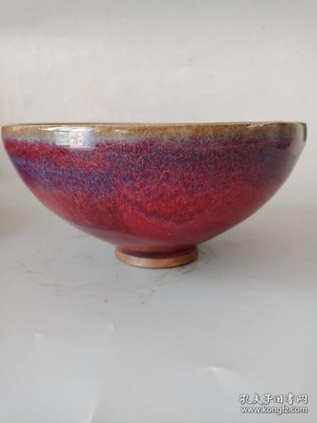 乡下收的老钧瓷碗