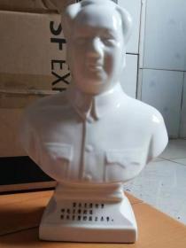 五十年代毛泽东半身瓷像  (少见)