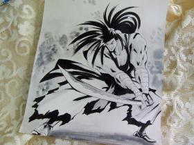 侍魂霸王丸灰色调手绘品