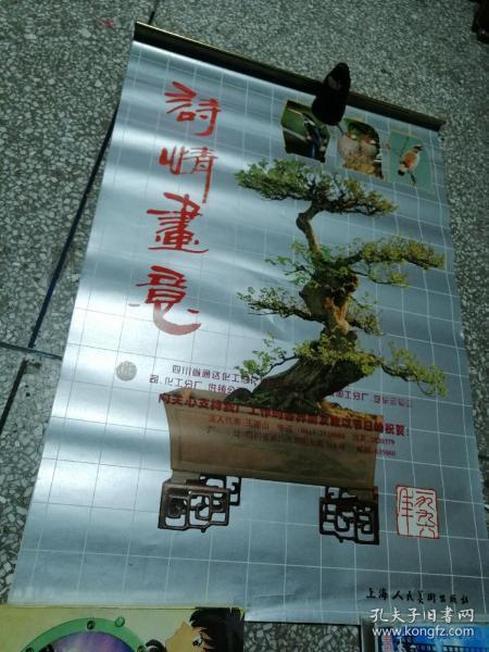 1996年挂历《诗情画意》盆景,全13张