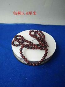 清代天然紫檀珠子手链