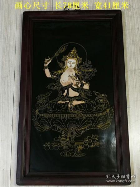 清代唐卡佛像瓷板画