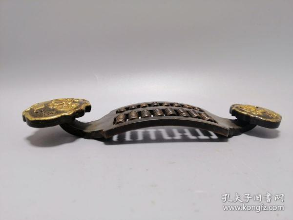 古玩铜器收藏,鎏金如意算盘,精打细算