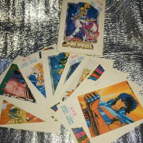 圣斗士星座明信片 8张(加上封皮封底共十张)