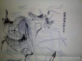 孙其峰,田世光73,74年线描画稿一批,46幅,硫酸纸,8开