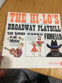 原版外文黑胶唱片  THE HI-LO'S BROADWAY PLAYBILL   运费一律请选快递,以图为准