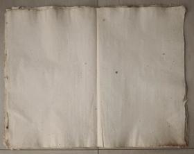 百年无废纸   清代老纸 宣纸 空白没使用过 收清代地契中没用完的 清代书写地契专用纸剩下的 共10张 之八