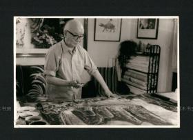 画坛巨匠 李可染照片1,原版老照片