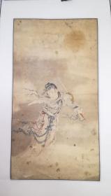 清代人物画一幅,笔墨精湛似任伯年