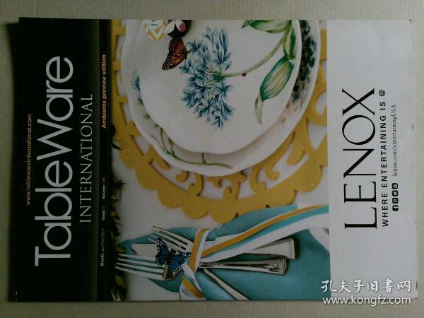Tableware International 2014年1-2月 国际餐具设计时尚英文杂志