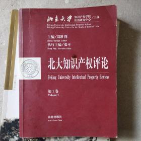 北大知识产权评论·第一卷