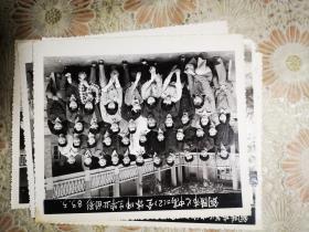 83年铜陵市七中高二2班全体师生毕业合影留念