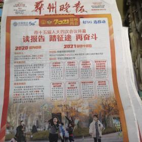 郑州晚报2021年1月31日