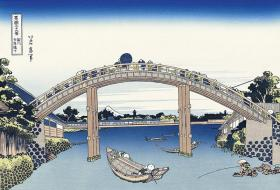 葛饰北斋富岳三十六景《深川万年桥下》安达新复刻 日本原版进口浮世绘 纯手工木板水印画