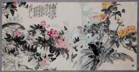 美术家、美术教育家,江苏省美术家协会副主席、   李剑晨     花卉画