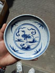 手工绘画小瓷盘一个,年代未知,价格不高,售出不退,保真瓷不包年代。