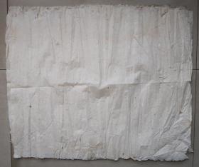 百年无废纸 清代老纸 宣纸 空白没使用过 收清代地契中没用完的 清代书写地契专用纸剩下的 共4张 之九