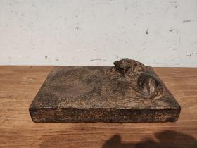 青石雕瑞狮砚台 品相一流做工精致 文人墨客收藏使用佳品