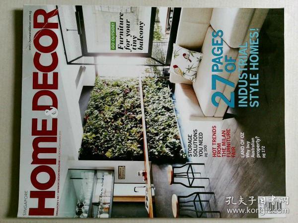 SINGAPORE HOME & DECOR MAGAZINE 新加坡家装室内杂志 2014/06