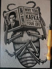 经典木刻版画:卡夫卡《变形记》