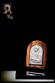 西洋古董意大利纯银925天主教耶稣摆件宗教信仰人文关怀字台装饰