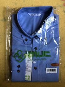衬衫 长袖 蓝色