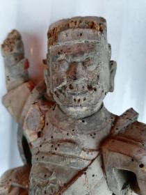 宋元木雕佛像——药王菩萨