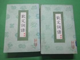 钦定词谱(三.四册)